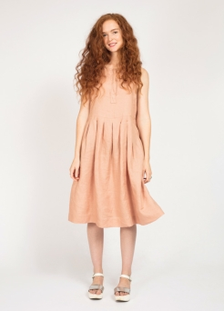 Peppermint Pleated Dress